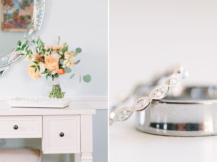 Romantic Champagne Belmont Manor Wedding // Photography by Lauren Myers Photography #BelmontManor #ElleEllinghaus #EED #AdrianaPapell