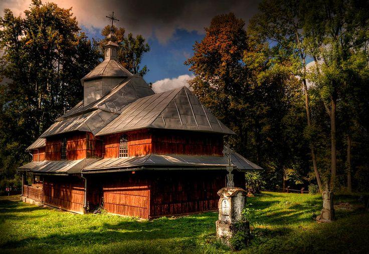 Wooden church in Hoszowie Credit: Marian Stanislawski (Click to Support Artist)