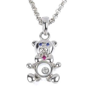 An 18ct gold Chopard 'Happy Diamond' multi gem-set teddy bear