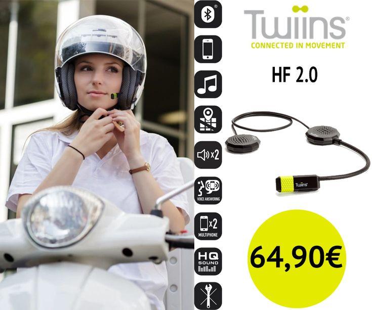 Novo Kit Mãos Livres Twiins | HF2.0 > Telefone / Música / GPS | Mantenha-se conectado ao telefone e escute as suas músicas favoritas, enquanto viaja na sua moto.  #twiins #kitmãoslivres #lusomotos #telefone #GPS #música #falarcomopassageiro