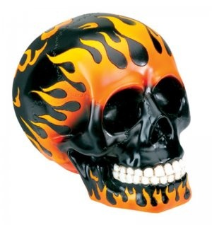 #skulls #flames, reminds me of Ghost Rider