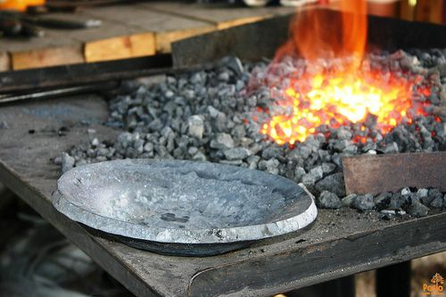 Forging pan