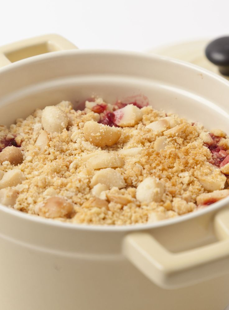 Michelin-starred chef Adam Gray plays with this great British dessert tradition by baking the nut-flavoured topping separately for more depth of flavour and extra crunch. This autumnal apple and blackberry crumble is gratifyingly easy to make, so why wait for a Sunday roast to enjoy it?