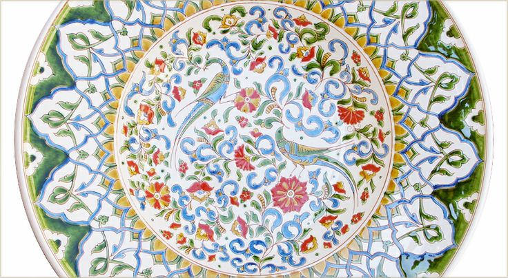 The biggest Peacock plate with 50 cm diameter.