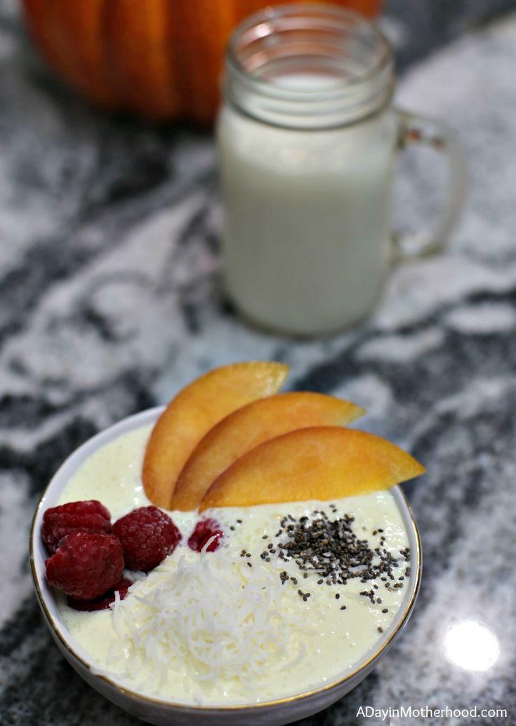 Raspberry Peach Mango Smoothie Bowl Recipe for a fun meal