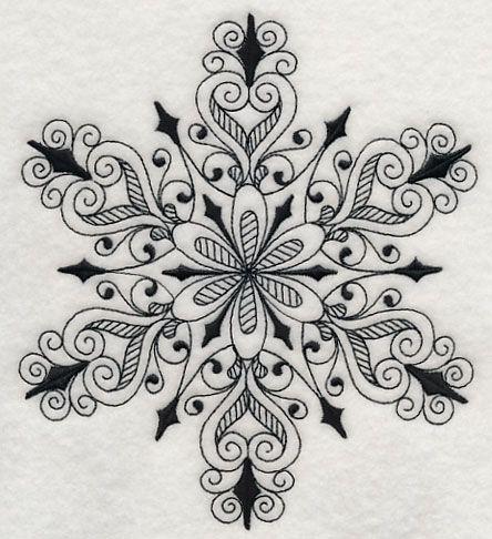 Snowflake Symphony 3 (Blackwork)