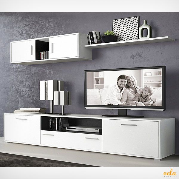 Muebles Salon Modernos Baratos Con Chimenea Modernos En 2019