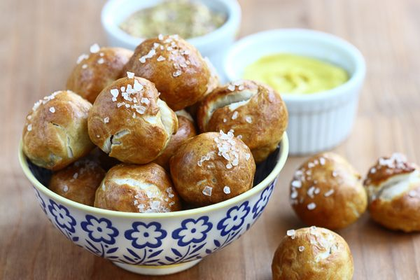 Pretzel tots? Looks like a game night must have.