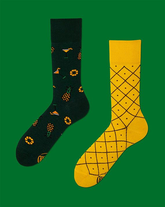 Pineapples Socks mens socks casual socks cool by ManyMornings