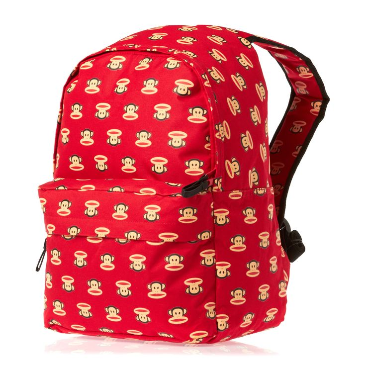 Paul Frank Paul Frank Multi Print Backpack - Red | Free UK Delivery