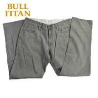 popular mens jeans brands light gray breathable straight solid  windproof denim washed ripped jeans BULL TITAN
