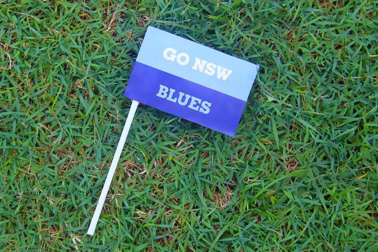 New South Wales (Blues) State of Origin DIY Team Fllag | Creative Sense Co