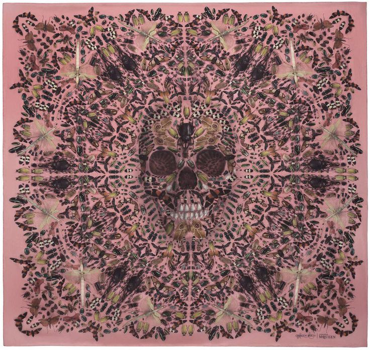a-mazing! damien hirst x alexander mcqueen limited edition scarves
