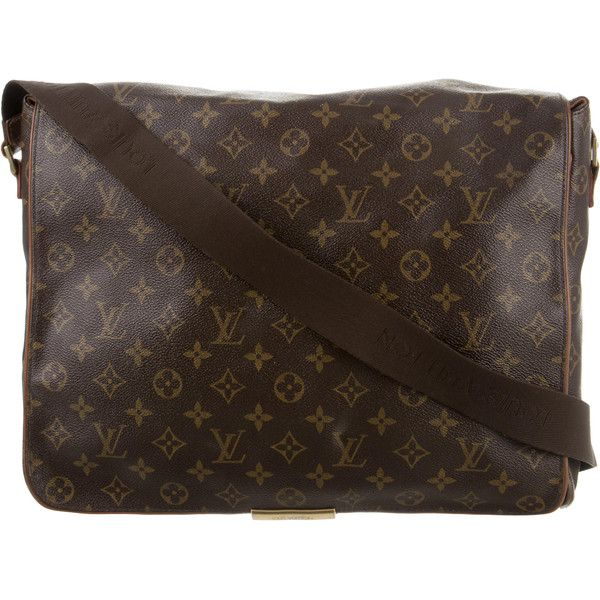 Pre-owned Louis Vuitton Monogram Abbesses Messenger Bag (1 235 AUD) ❤ liked on Polyvore featuring bags, messenger bags, brown, monogrammed bags, flat bags, louis vuitton messenger bag and louis vuitton bags