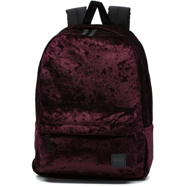 c4362c2abb Vans Deana Crushed Velvet Backpack ( 42) ❤ liked on Polyvore featuring bags