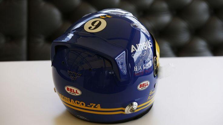 Marcus Ericsson helmet, Caterham, Monaco, 2014