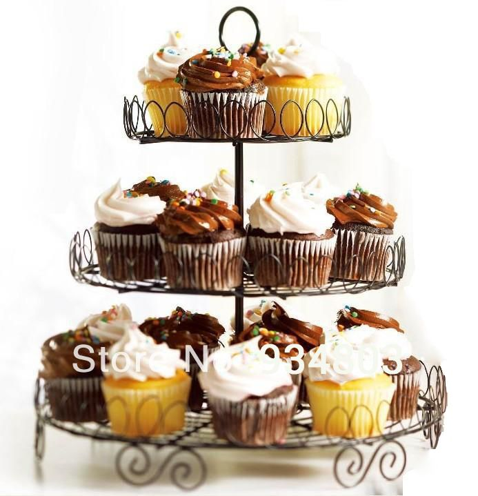 High-quality metal cupcake stand  with 3 tiers to hold  and display mini cupcakes $25.00