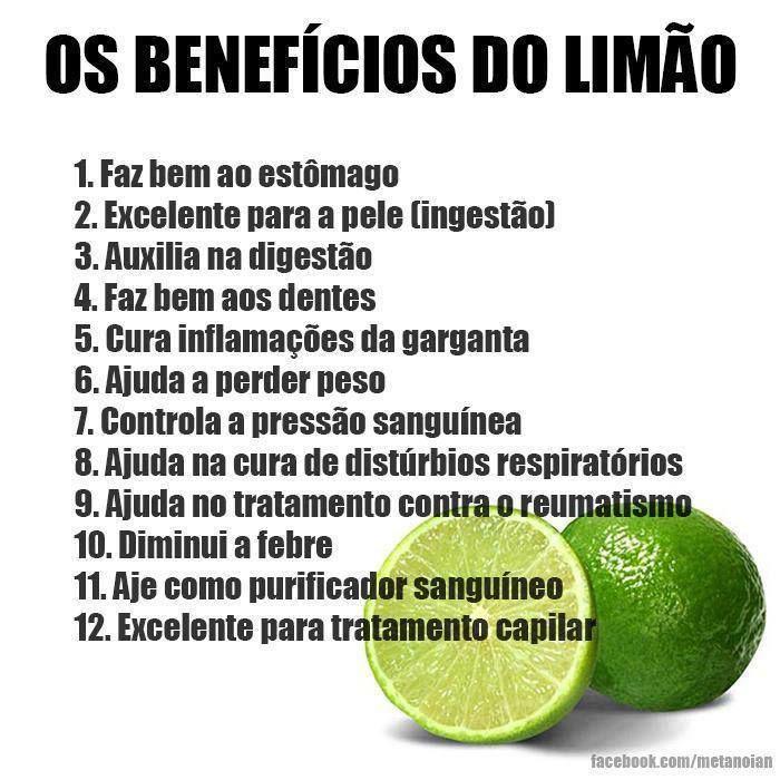 Os #benefícios do #limão. Saiba como fazer mais coisas em http://www.comofazer.org