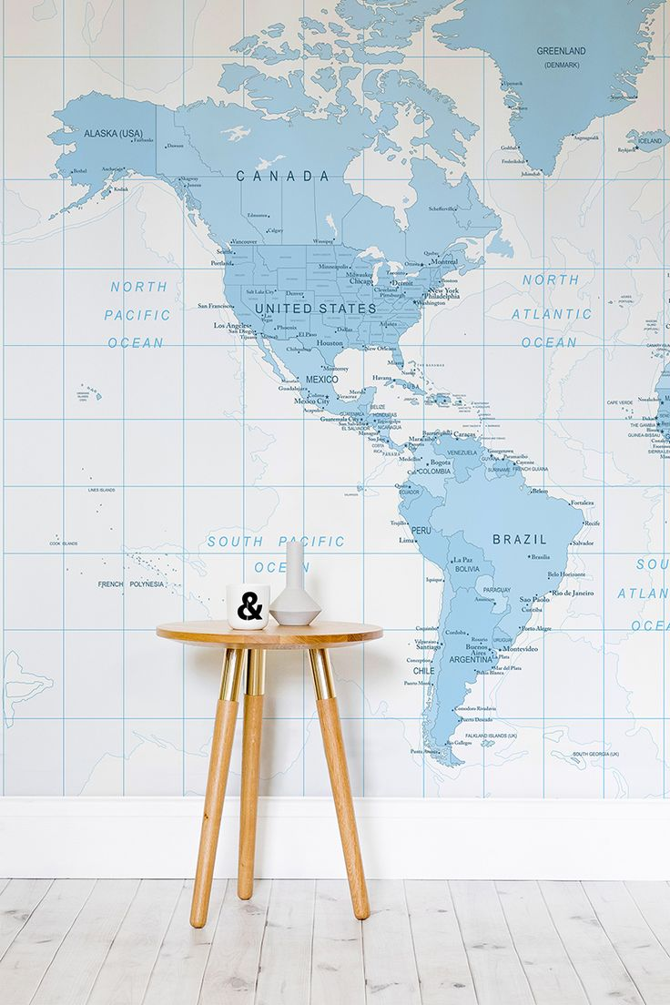 7 best wall murals maps images on pinterest map wallpaper blue and white detailed world map wall mural