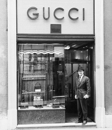 Guccio Gucci, founded the House of Gucci in Florence in 1921 - Amazing photo of a great start of fashion