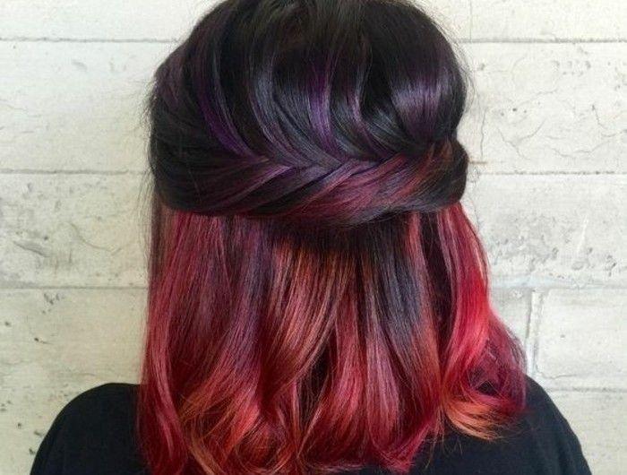Les 25 Meilleures Id Es Concernant Cheveux Rouge Acajou Sur Pinterest Coloration Pour Cheveux