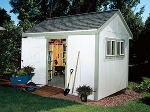 Build Your Own Garden Shed From Popular Mechanics Plans - A spacious storage shed that anyone can build. A basic 9 x 13-ft. shed built with decent materials and conventional framing methods. Material costs for our project came to around $2400. (I would use more salvage, myself.): Garden Sheds, Storage Building, Storage Sheds, Free Plans, Popular Mechanics, Gardens, Basic 9X13, Shed Plans, Backyard