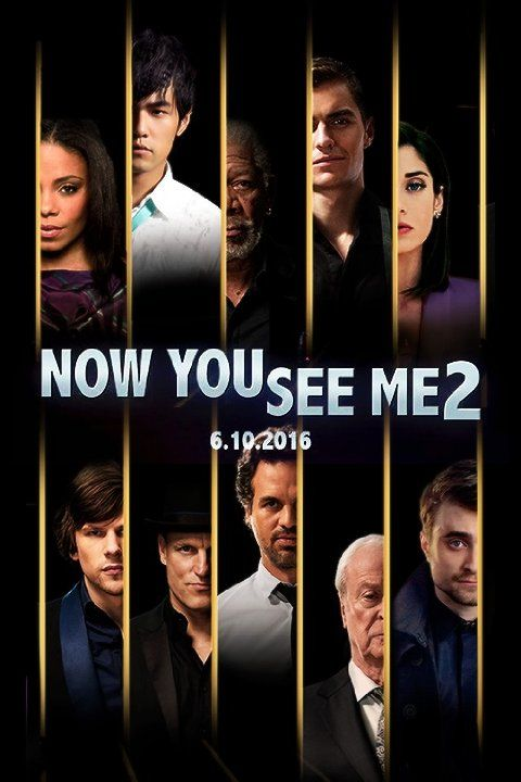 Morgan Freeman, Michael Caine, Woody Harrelson, Sanaa Lathan, Lizzy Caplan, Jesse Eisenberg, Daniel Radcliffe, Mark Ruffalo, Jay Chou, and Dave Franco in Now You See Me 2 (2016)