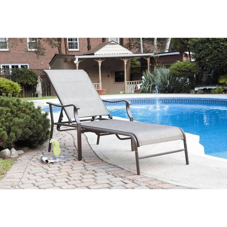 Patio Chaise Lounge Outdoor Furniture Pool Chair Lounger Wicker Folding Daybed  #Unbranded