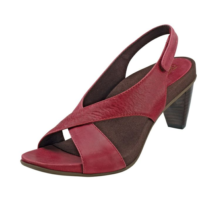 'Courtney' Heeled Sandal in wine - new for Spring 2014