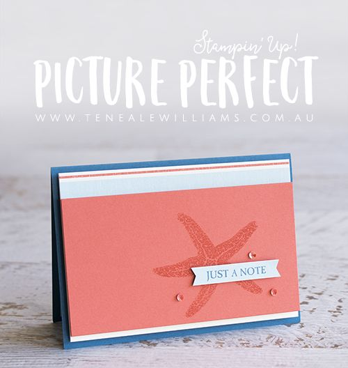 By Teneale Williams, Stampin' Up! Australia   Picture Perfect Stamp Set   Clean and Simple Coastal Theme Male card