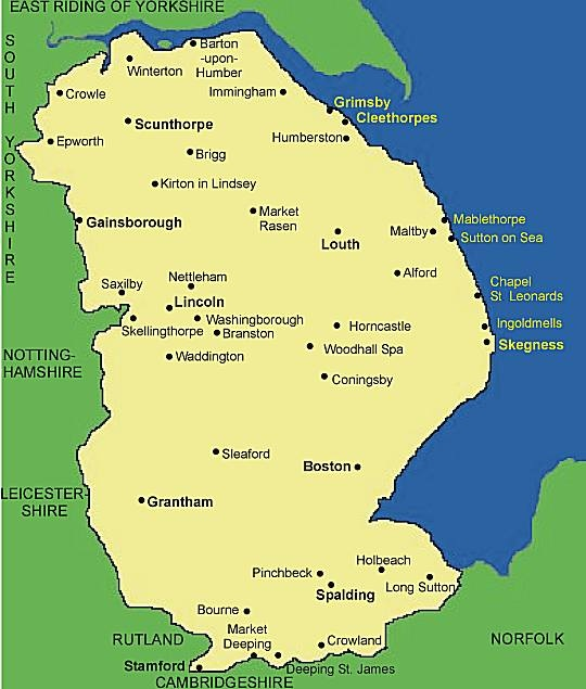 The county of Lincolnshire