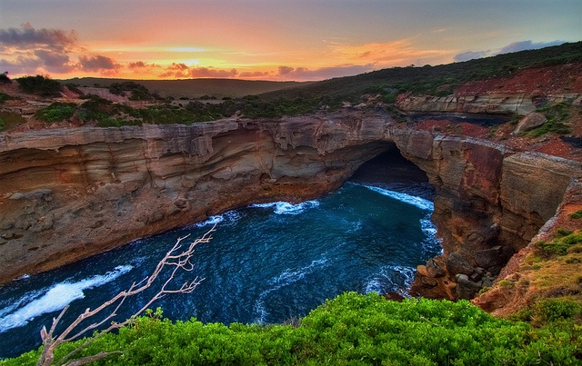 Snapper Point Sunset by Steve Passlow - Snapper Point, Munmorah State Conservation Area, Central Coast, NSW, Australia