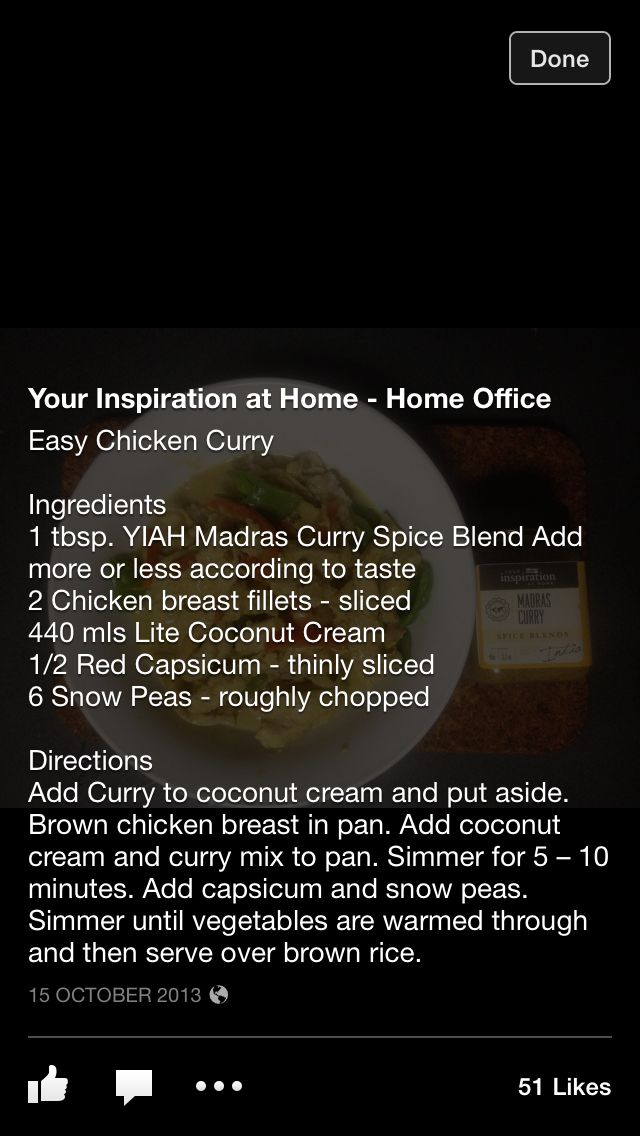 YIAH - Easy Chicken Curry