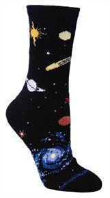 Celestial Planet Fun Novelty Sock for Women