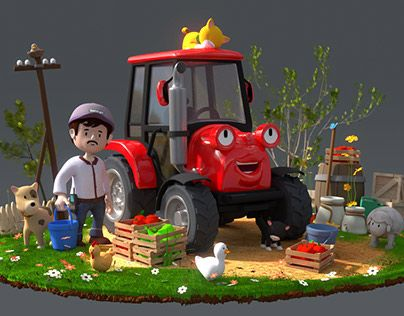 """Check out new work on my @Behance portfolio: """"3D character - Tractor"""" http://on.be.net/1NnYBum"""