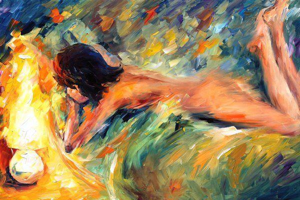✿ Leonid AFREMOV ✿ - Catherine La Rose Poesia e Arte