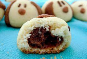 English Version Versión en Español  Vamos brincar com a comida? Fazer esses cookies é muito fácil e nada encanta mais as crianças que o form...
