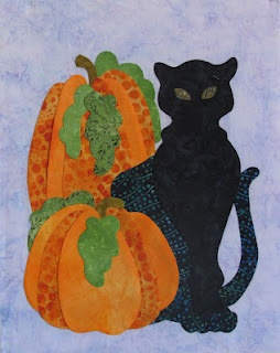 """""""Spooky Pumpkins"""", free pattern download by Marjory Peck, Peck's Pieces"""