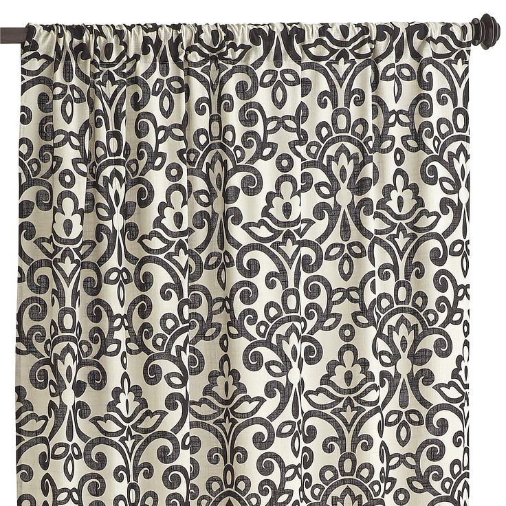 Sofie Damask Curtain Black 84 Curtains For Living Room