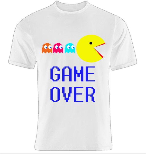 pacman t-shirt game over funny thessaloniki