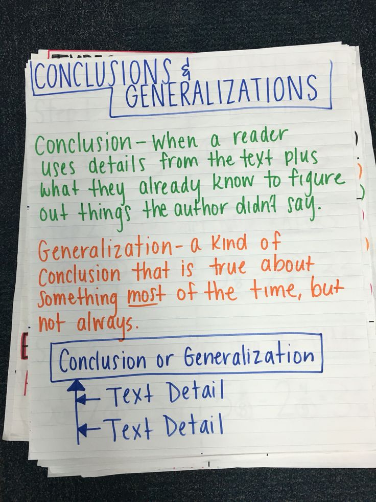 Conclusions And Generalizations Anchor Conclusions And