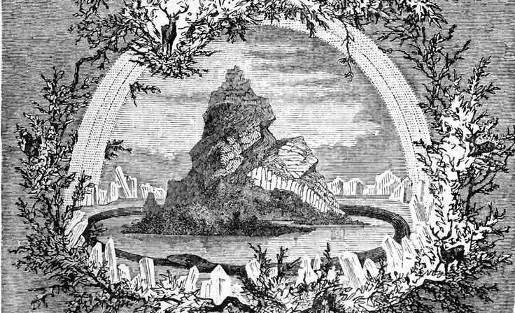 Volgens de Scandinaviërs werd het middelpunt van het universum gevormd door een enorme es die Yggdrasil heette. Zijn takken overdekten de hemel.