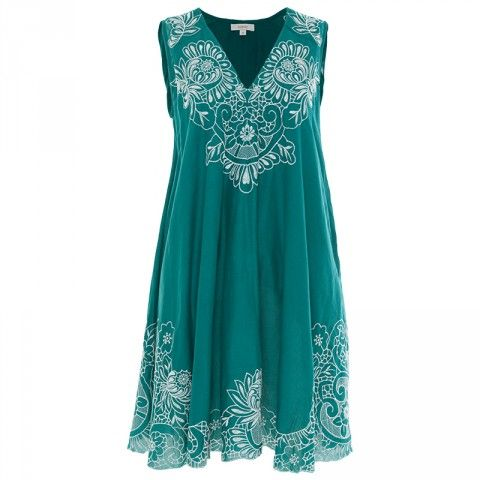 Poetry Luca Embroidered Double Layer Dress