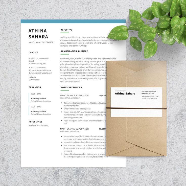 24 best Resume Templates images on Pinterest Credit cards - maintenance supervisor resume