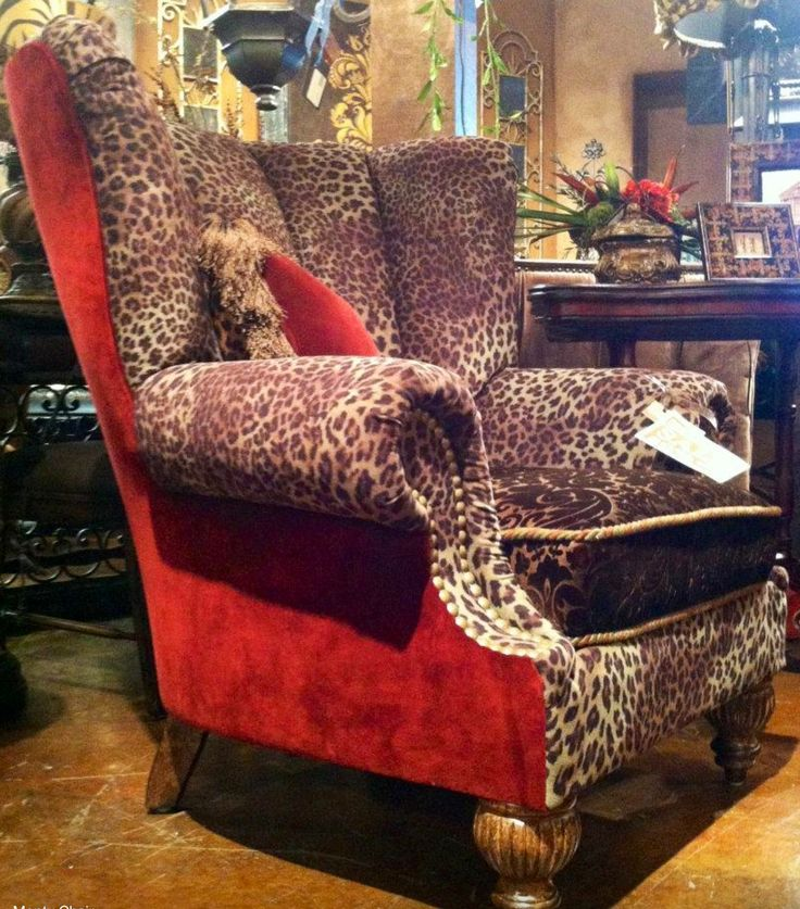 Red and cheetah print chair  In love!!!!!!!!❤❤❤❤❤