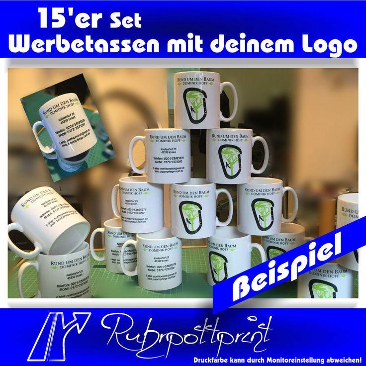 15er Set Werbetassen - Tasse mit Logo Werbung Merchandise Fototasse #mug #tasse #werbung #merchandise #ruhrpottprint #firma #druck #print #logo #design #set