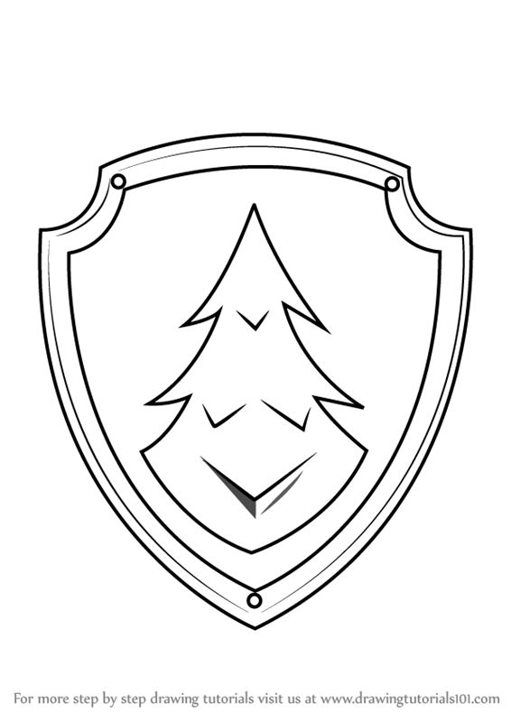 Paw Patrol Shield Coloring Pages : Best paw patrol badges images on pinterest baby ducks