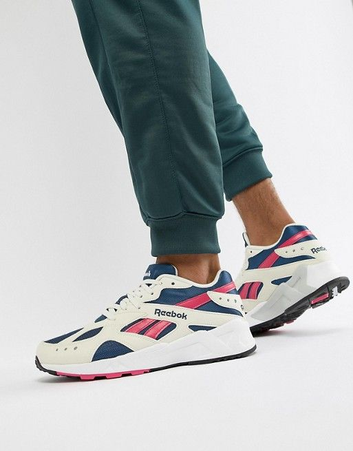 593a30cb2ae Reebok - Aztrek Sneakers In White Pink and Navy -  80.00