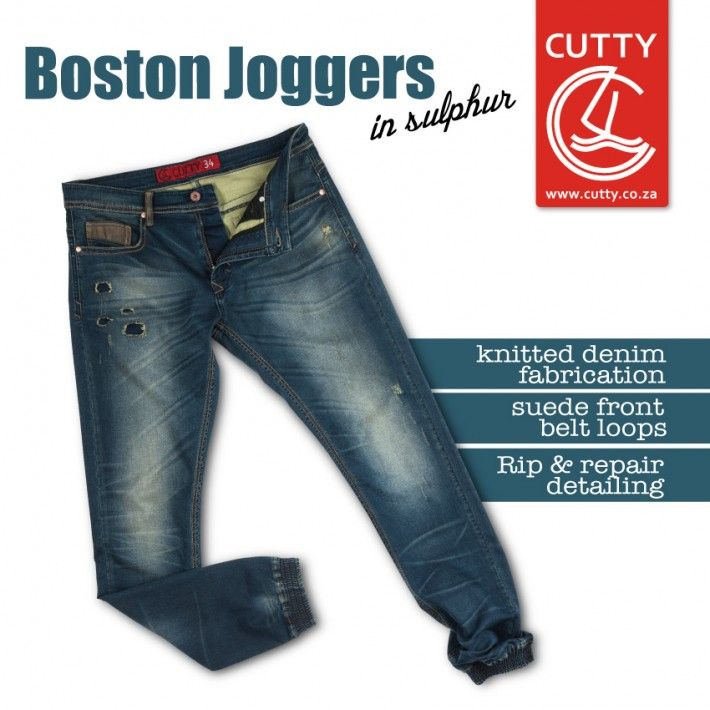 Whatever you're up to this spring, do it in a pair of Cutty's Boston Knitted Denim Joggers. Made from our revolutionary knitted denim fabrication, these trendsetting bottoms blend the two things we love the most. Denim and joggers. Made for movement, they sport suede front belt loops and money pocket, branded buttons, and rip and repair detailing on the front.
