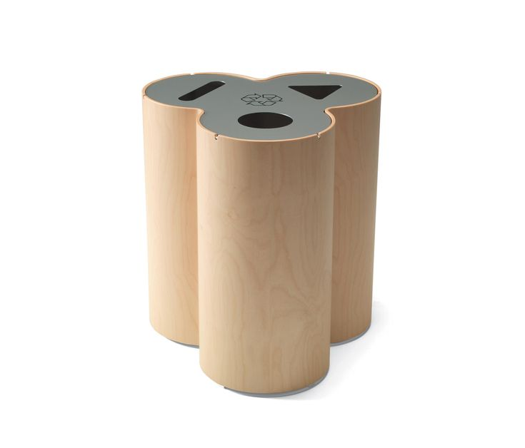 An elegant format for a recycling bin that easily blends into a variety of different interiors. Advanced moulding and splicing of the veneer surfaces have..